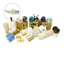 Envuelto en Papel Individual personalizable de bambú Rollo de Papel Higiénico Premium tejido