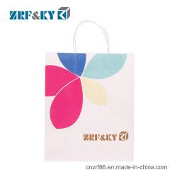 Reutilizáveis personalizado branco impresso em papel kraft Shopping/Food/Café/Cosmetic/artesanato/Dom sacos de embalagem