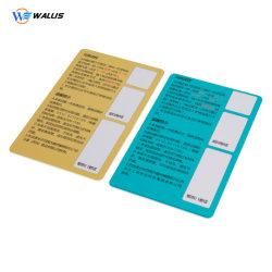 Nouvelle arrivée bande auto-adhésif autocollant NFC carte du panneau de signature pour les cartes en plastique PVC