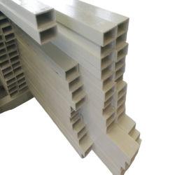 黄色い高力FRP GRP Pultrudedの合成のガラス繊維のCrossarmの長方形棒