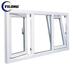 Weiße doppelte glasig-glänzende Markise Windows Vinylenergie Belüftung-UPVC