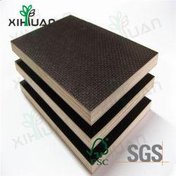 Commerce de gros noir/brun film imperméable confrontés pour la construction de contreplaqué