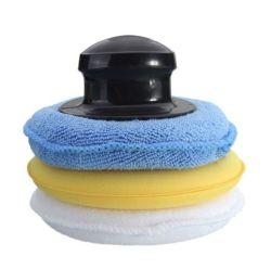 Auto-Wachs Microfiber runde Schwamm-Auto-Reinigung