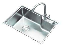 Sc6845 68× 45 Cm Presszeichnung Gestreckt Einzelschale Utensil Schrank Zubehör Arbeitsplatte Küche Edelstahl Waschbecken