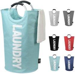 Personaliza o cordão de roupa impermeável em algodão linho, cesto de armazenamento dobrável