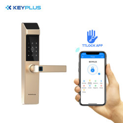 Beste Smart Intelligent WiFi Bluetooth elektronische deursloten vingerafdruk op toetsenpaneel Kantoor Residential Handle Locks for door