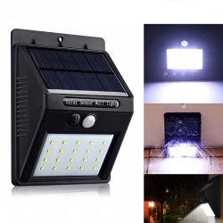 IP65 лампы инфракрасного датчика в чисто белого солнечного настенный светильник с 20 светодиодные лампы для наружного и внутреннего освещения