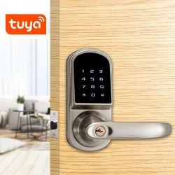 O Bluetooth Cofre eletrônico fechos sem mola Trava da Porta de Segurança Digital Tuya Smart fechadura de porta com senha cartão RFID a alavanca da chave