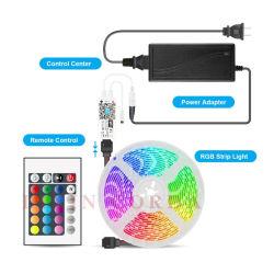 RGB 10m à prova deluz LED flexíveis DC 12V LED fita de tiras Diodo RGB Fita com WiFi e de voz inteligente e 6A Adapte de energia