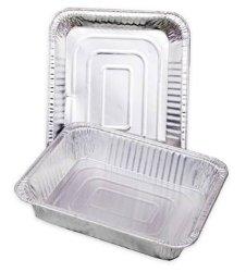 Desechables rectangulares Catering contenedor contenedor de papel de aluminio