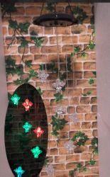 Cambio de color de la campanilla del viento solar con seis ciervos/Solar Jardín Decoración Colgar/Jardín Solar Wind Chime