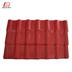 Materiais de construção de plástico de PVC anticorrosão ASA de folha de estilo espanhol de resina de telhados
