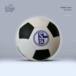 randello fissato al muro della Germania della lampada di gioco del calcio mezzo della lampada da parete 3D