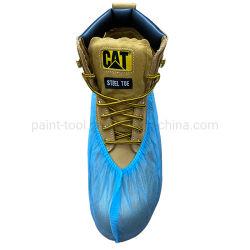 ホールセール防水安全 PP ブルー使い捨て靴。足部カバー