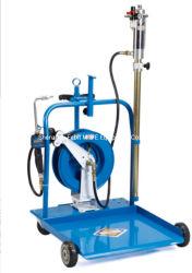 Dispenser per pompa dell'olio per carrello a cilindro da 180 kg con avvolgitubo