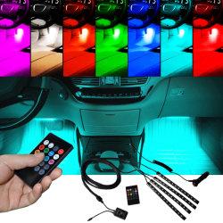 음악 통제 자동 LED 조명 시설 차 실내 대기권 LED 지구 빛 차 LED