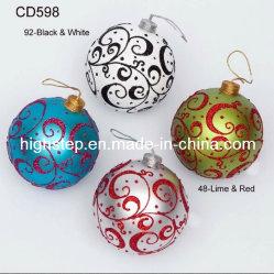 Boule de Noël avec motif, couleurs assorties et dessins et modèles