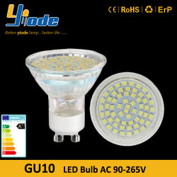 Voyants LED GU10 3W AC 95-265V 2835 Puce LED en verre de Spotlight
