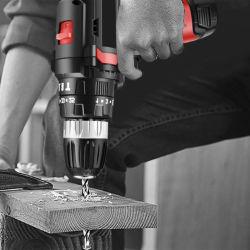 Furadeira de impacto Hardware Ferramenta Elétrica Definir Abono de madeira a caixa de ferramenta Eletricista Repare o Conjunto de combinação