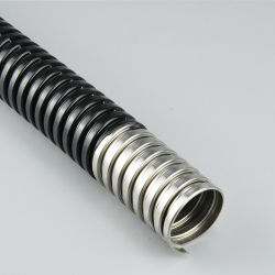Estanques à prova flexíveis Flex PVC corrugado conduítes de metal flexível do tubo de Ss Tubos com conector de PVC