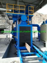 Macchina di produzione di pulizia di granigliatura di brillamento di sabbia della struttura del fascio della struttura d'acciaio H