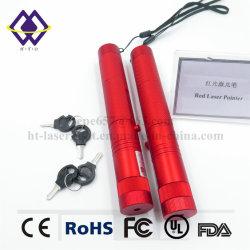 OEM 100MWの携帯用主赤レーザーのペンが付いている強力なポインターライト
