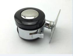 Alliage de zinc de 2 pouces chaise de bureau double roulette de la tige de vis de roue avec frein Am-344