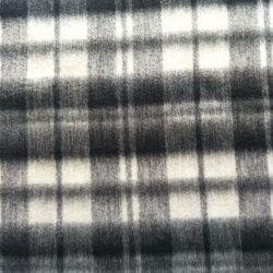 Черный и белый цвета проверить шерсть шерстяной ткани флис для одежды Одежда ткань одежды ткань