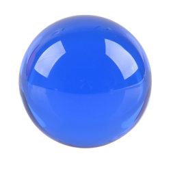 Sfera colorata blu naturale della sfera di cristallo
