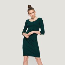 Грациозные лайкра хлопка дамы из колена платье в хорошем качестве