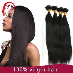 Remyの卸し売りブラジルのまっすぐな毛のWeftバージンの人間の毛髪の織り方