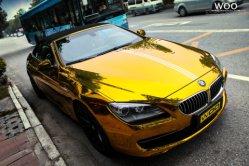 Tsautop Air Free High Stretable Mirror Chrome Film Gold Chrome تغليف من الفينيل