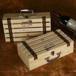Bas prix de gros de la Chine Logo personnalisé des boîtes de vin en bois massif