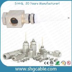 트렁크 동축 케이블 Qr540용 90도 알루미늄 핀 커넥터 P3 500(TC12)