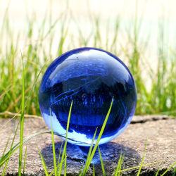 Cheap de boules de cristal cristal personnalisé Bille de verre Décoration Ks120401