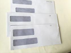 Papel Envelope com janela dois/Papel Padrão de envelopes Envelopes Janela duplo de segurança,