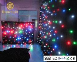 Flexibles RGBW LED Stern-Vorhang-Licht-weiches Tuch für Stadium