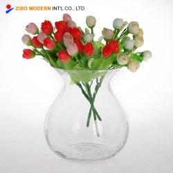 Vaso di fiore di vetro di grande cerimonia nuziale alta libera all'ingrosso
