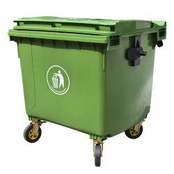 Robuster Großer 1100L 660L Kunststoff-Mülleimer/Abfall/Abfallbehälter mit Außeneinsatz/Rad
