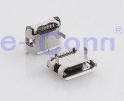 Micro-USB женского SMT сосудов под давлением типа B