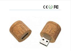 목재 재질 덮개 병 디자인 USB 8GB