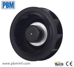 220mm 230V Ce moteur brushless à rotor externe Ventilateur centrifuge incurvée vers l'arrière en plastique