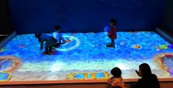 Proyector interactivo Gooest Arena juegos para niños interactivo centro de la playa de arena