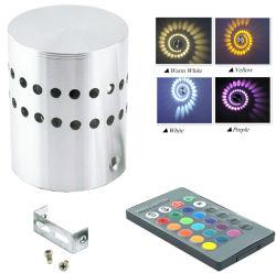 3W luz de parede LED 110V, 220V candeeiro de parede RGB KTV Karaoke Bar Decoração Lâmpada RGB com 24 teclas Controle remoto por parte de iluminação Clup