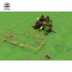 Для использования вне помещений комбинации слайд детская игровая площадка для оборудования для использования вне помещений Детские деревянные площадки производителей оборудования пользовательских