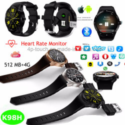 サポートダウンロードのApps 3G/WiFiのスマートな腕時計の電話K98h