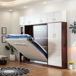 El ahorro de espacio hogar Muebles de dormitorio cama de pared para cama de hotel