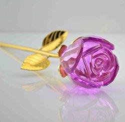 2016 Venta caliente Flores de Cristal Rosa para regalo de Navidad
