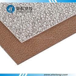 Diamant et de goutte de pluie feuille Gaufré en polycarbonate avec Certification SGS