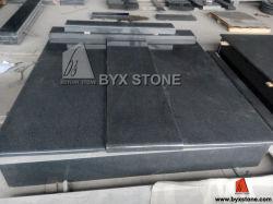 De donkere Grijze Grafsteen/de Grafsteen van de Rand van het Graniet